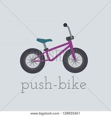 Vector push-bike illustration. push-bike isolated on white background. push bike vector. push bike illustration. Bike isolated vector