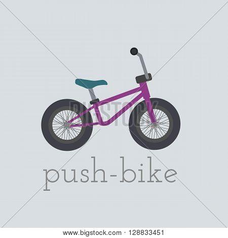 Vector push-bike illustration. push-bike isolated on white background. push bike vector. push bike illustration. Bike isolated vector