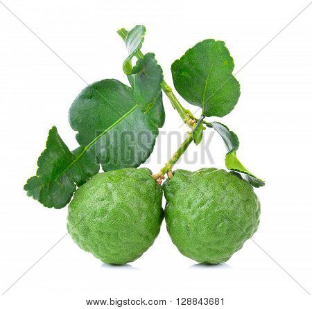 A bergamots are on the white background
