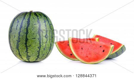 A watermelons are on the white background