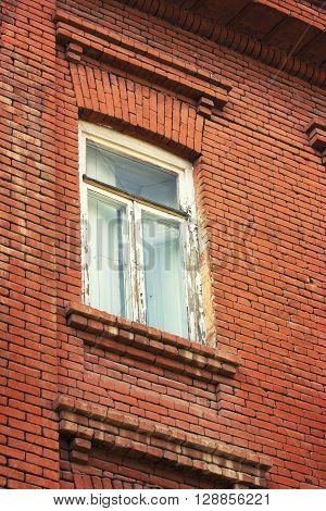 Window in abondoned house in Tbilisi Republic of Georgia