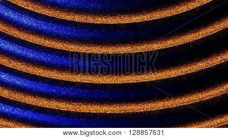 speaker membrane illuminated with blue and orange executed in macro style