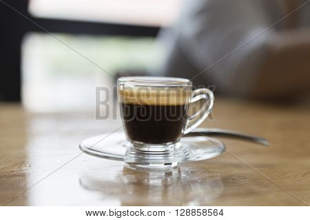 Cup Of Hot Espresso Coffee Shot