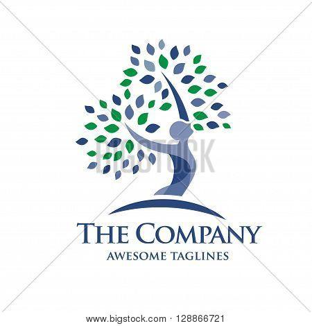 elegant Psychology and Mental Health logo concept