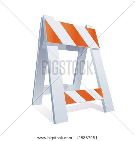 Vector ColorRealistic Illustration Of Road Barrier For Traffic and Transportation Concepts Prints Or Under Construction Web Page