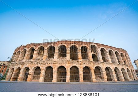 Arena di Verona amphitheatre in the evening Italy