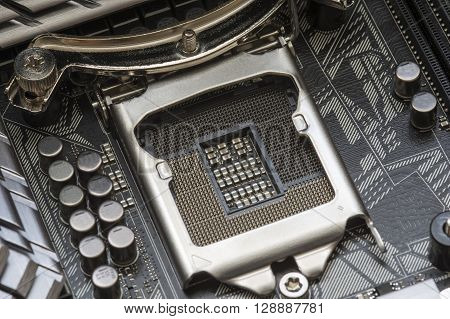 Intel LGA 1151 cpu socket on motherboard