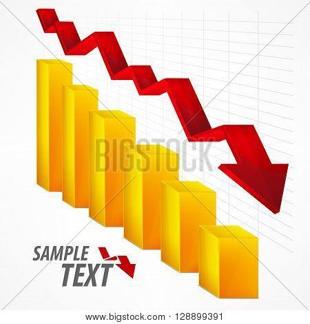 Arrow Chart Down