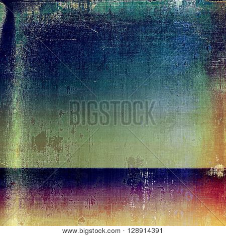 Abstract dirty texture or grungy background. With old style decorative elements and different color patterns: yellow (beige); brown; green; blue; red (orange); purple (violet)