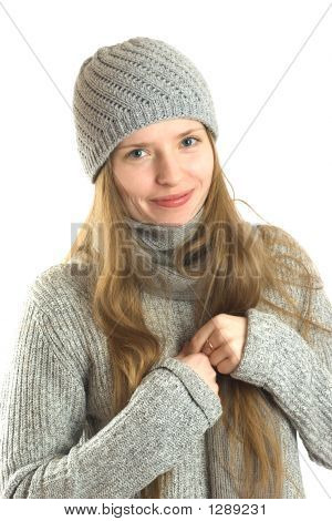 Woman In Winter Outfit
