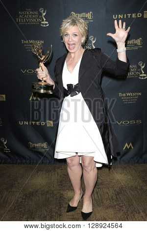 LOS ANGELES - May 1: Mary Beth Evans at The 43rd Daytime Emmy Awards Gala at the Westin Bonaventure Hotel on May 1, 2016 in Los Angeles, California