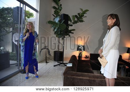 PALM SPRINGS - APR 27: Blair Tindall, Linda Gray at a cultivation event for The Actors Fund at a private residence on April 27, 2016 in Palm Springs, California