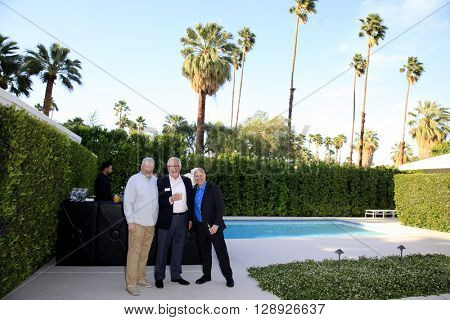 PALM SPRINGS - APR 27: Dan Kitowski, Scott Appel at a cultivation event for The Actors Fund at a private residence on April 27, 2016 in Palm Springs, California