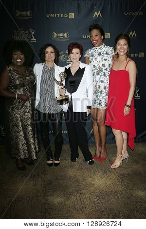 LOS ANGELES - May 1: The Talk, Sheryl Underwood, Sara Gilbert, Sharon Osbourne, Aisha Tyler, Julie Chen at The 43rd Daytime Emmy Awards, Westin Bonaventure Hotel on May 1, 2016 in Los Angeles, CA
