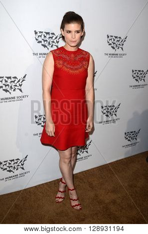 LOS ANGELES - MAY 7:  Kate Mara at the Humane Society Of The United States LA Gala at the Paramount Studios on May 7, 2016 in Los Angeles, CA