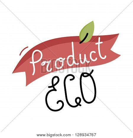 Eco icon. Cartoon organic icon. Eco food label. Natural product icon. Food icon. Bio icon. Organic tag. Eco label. Vegetarian restaurant menu logo. Organic icon. Ecology icon. Cartoon eco sign. Funny eco icon