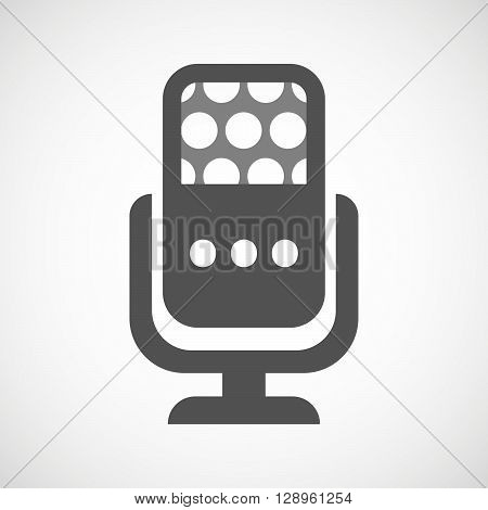 Isolated Mic Icon With  An Ellipsis Orthographic Sign