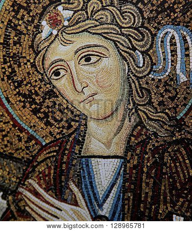Mosaic In Palace Of The Normans, Palermo, Sicily, Italy