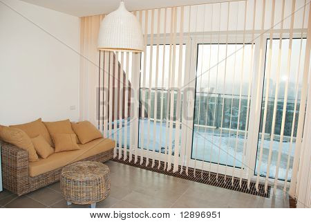 Modern Room With Vertical Blinds