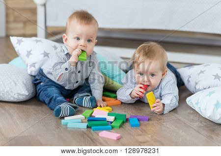 Boy Twins Playing
