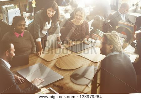 Business Corporation Organization Teamwork Concept