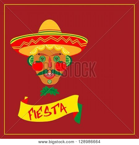 Mexican style. Mexican Fiesta party Concept. Holiday poster template card invitation promotion. Cinco de mayo Fiesta. Mexican fiesta party decoration food menu background. Vector illustration