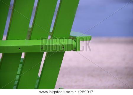 Green Beach Chair Close Up