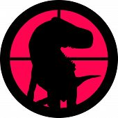 In the scope series - Raptor in the crosshair of a gun's telescope. Can be symbolic for need of protection, being tired of, intolerance or being under investigation. poster