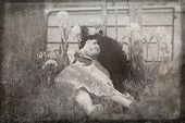 a creepy china doll photo perfect for a scary mystery. poster