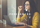 Freelancer Freelance Occupation Job Career Concept poster
