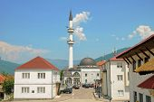 Sultan Mosque in downtown Plav, Montenegro poster