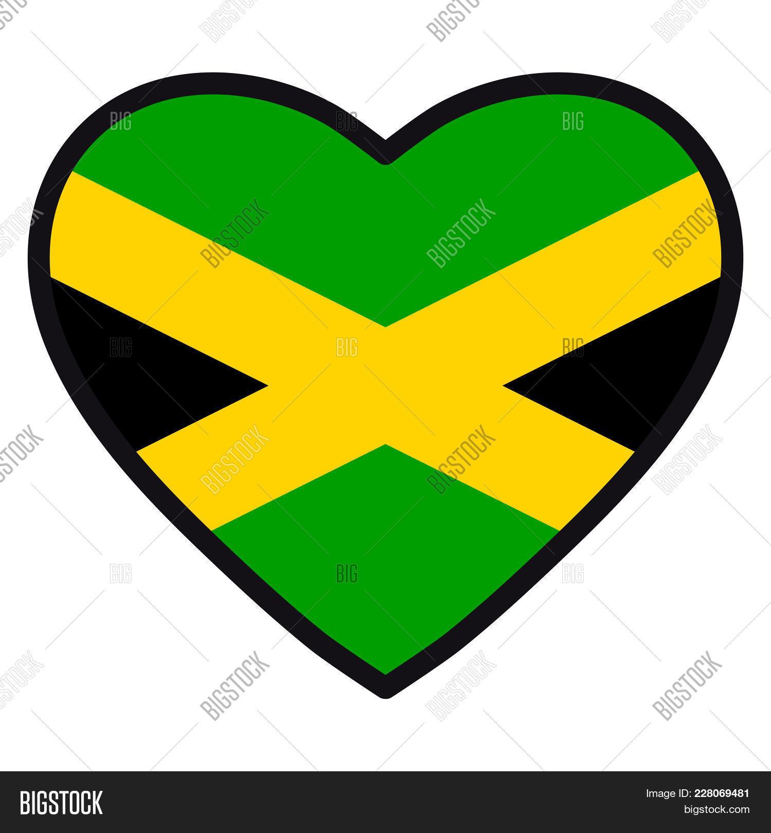 Flag Jamaica Shape Image Photo Free Trial Bigstock