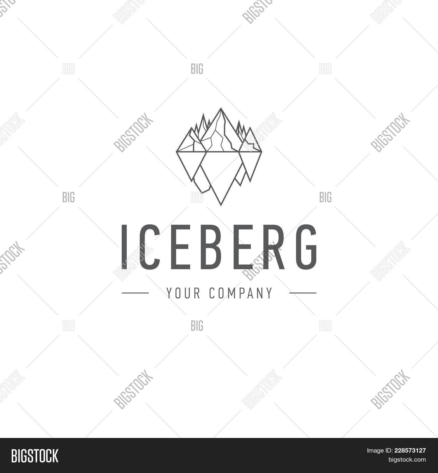 iceberg triangle cold image photo free trial bigstock
