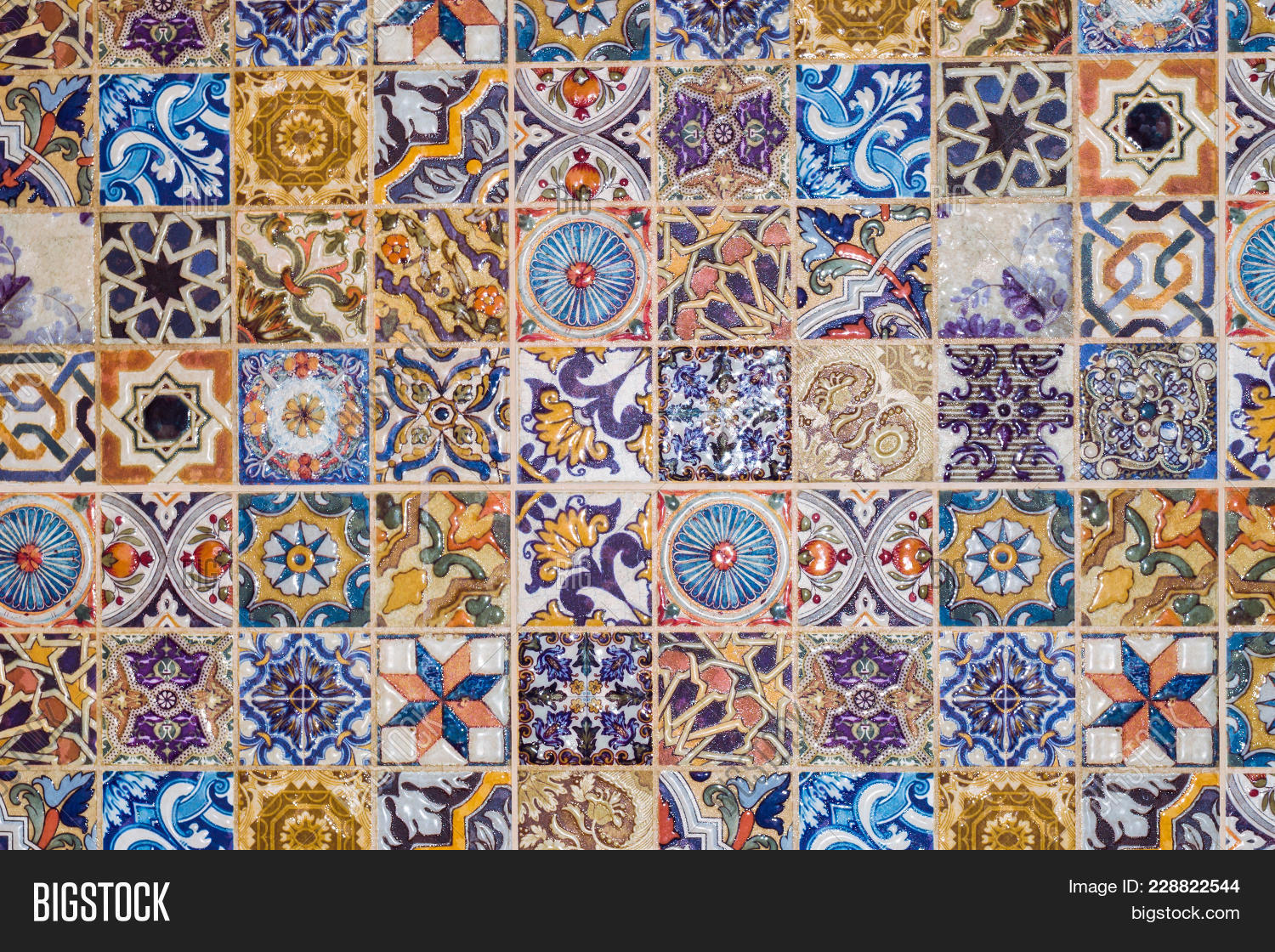 Traditional european ceramic mosaic image photo bigstock traditional european ceramic mosaic tile pattern dailygadgetfo Image collections