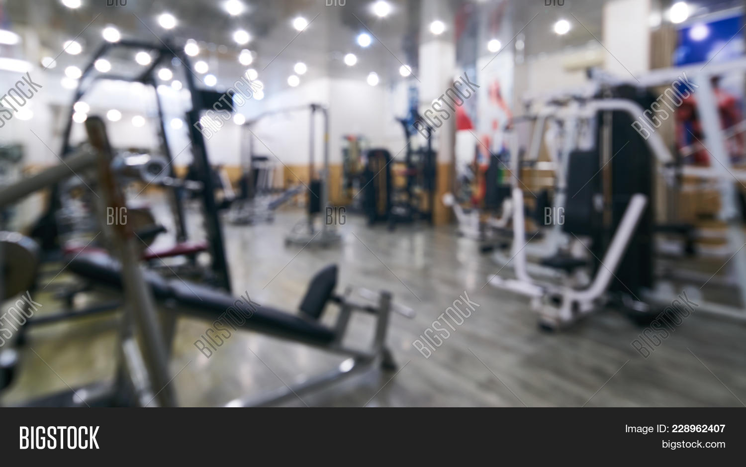 Abstract blur gym image photo free trial bigstock