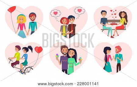 Couples And Time Spent Together, Loving People And Activities, Man And Woman Holding Balloon In Shap