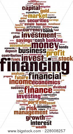 Financing Word Cloud Concept. Vector Illustration On White