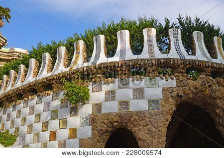 Park Güell, Architect Antonio Gaudí In Barcelona