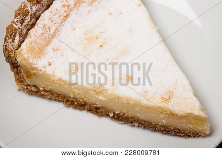 Cheesecake Kitchen On Table. Close Up For Your Design.