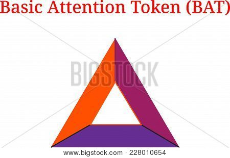 Vector Basic Attention Token (bat) Digital Cryptocurrency Logo. Basic Attention Token (bat) Icon. Ve