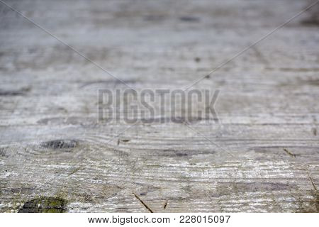 Old Natural Wooden Shabby Background Close Up Selected Focus