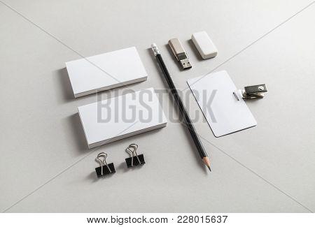 Brand Identity Mockup. Blank Corporate Stationery Set On Paper Background.
