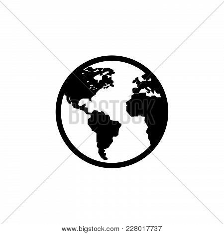 World Icon Isolated On White Background. World Icon Modern Symbol For Graphic And Web Design. World