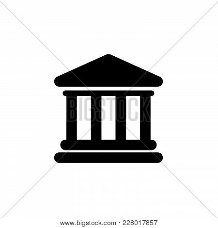 Government Bank Building Icon Isolated On White Background. Government Bank Building Icon Modern Sym