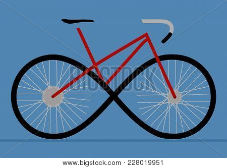 The Sign Of A Bicycle As An Infinity Forward Movement, A Sigil Of Movement, Development, A Bicycle R