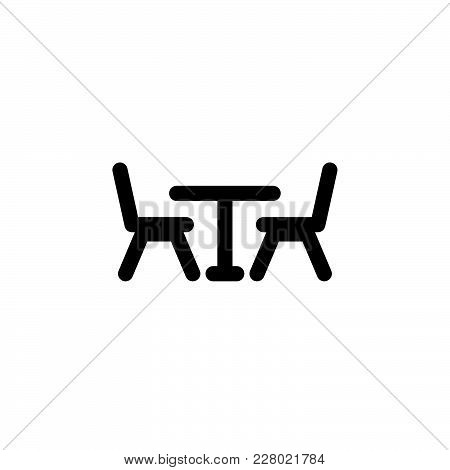 Table And Chairs Icon Isolated On White Background. Table And Chairs Icon Modern Symbol For Graphic