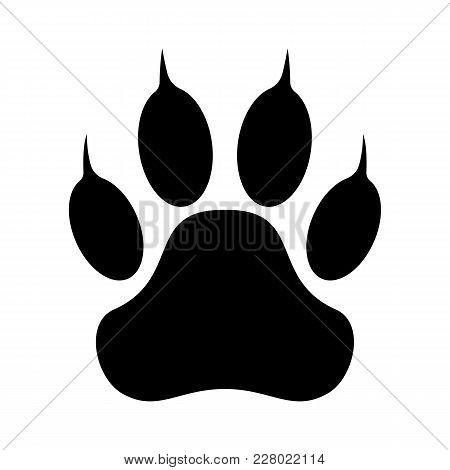 Paw Print. Dog. Cat Paw. Vector Illustration.