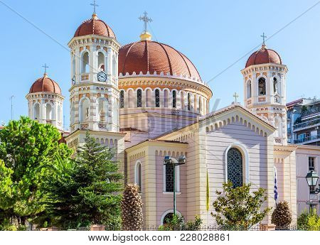 Metropolitan Orthodox Temple Of Saint Gregory Palamas In Thessaloniki, Greece.