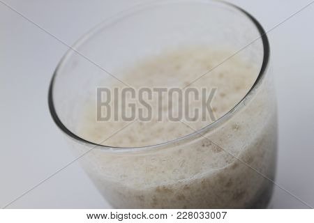 Just-poured Glass Of Root Beer Isolated On A White Background, Closeup