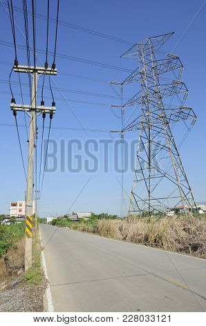Compare Electric Transmission Line Between High-voltage And Low Voltage (supply System)